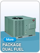 Learn more about dependable Rheem Package Dual Fuel Heating & Cooling Products
